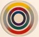 Carl Krasberg: E 23 - Color Circle II, Ölfarben auf kunststoffbeschichteter Spanplatte, Durchmesser 37 cm, 1969