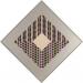 Carl Krasberg: J 22 - 9 gleiche Quanten bei 8 Farben, Ölfarben auf Aluminium, diagonal 72,5 cm, 1981
