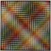 Carl Krasberg: P 55 - Diagonale Reihen, Ölfarben auf kunststoffbeschichteter Platte, 161 x 161 cm, 2003