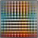Carl Krasberg: P 73 - Von Blau zu Orange zu Grau, Ölfarben auf kunststoffbeschichteter Platte, 121 x 121 cm, 2009