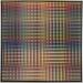 Carl Krasberg: P 83 - Von Grau zu Gelb zu Grau - von Grau zu Violett zu Grau, Ölfarben auf kunststoffbeschichteter Platte, 121 x 121 cm, 2010