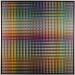 Carl Krasberg: P 85 - Von Grau zu Orange zu Grau - von Grau zu Blau zu Grau, Ölfarben auf kunststoffbeschichteter Platte, 121 x 121 cm, 2011