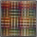 Carl Krasberg: P 82 - Von Grau zu Rot zu Grau - Von Grau zu Grün zu Grau, Ölfarben aus kunststoffbeschichteter Platte, 121 x 121 cm, 2010