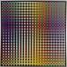Carl Krasberg: P 76 - Von Gelb zu Violett zu Grau, Ölfarben auf kunststoffbeschichteter Platte, 121 x 121 cm, 2009/2010