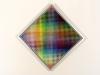 Carl Krasberg: P 86 - diagonale Farbreihen, Ölfarben auf kunststoffbeschichteter Spanplatte, 63,5 x 63,5 (80 x 80 cm) diagonal: 90 cm, 2011