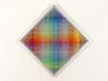 Carl Krasberg: P 87 - 4 graue Zentren, Ölfarben auf kunststoffbeschichteter Spanplatte, 63,5 x 63,5 (80 x 80 cm) diagonal: 90 cm, 2011